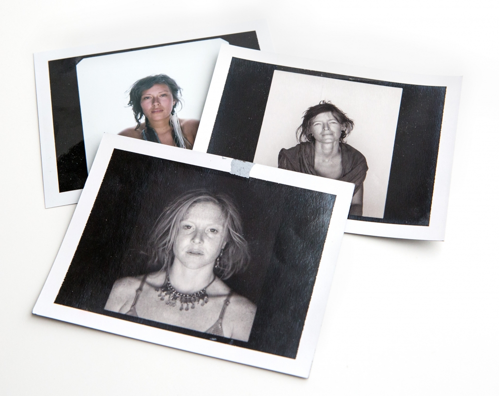 Polaroids from Phoenix commercial photographer Jason Koster's Burning Man portrait series.