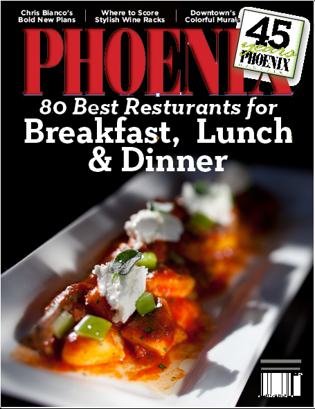 Phoenix Magazine cover story mockup by Phoenix commercial photographer Jason Koster