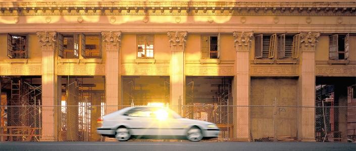 Automotive editorial Saab Sunball downtown Phoenix editorial photographer North American photographer