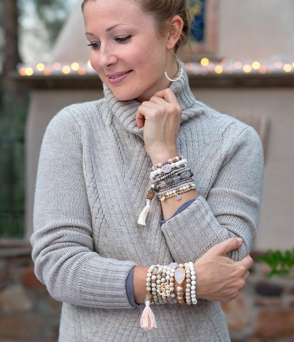Bracelet Mala Holiday Sweater Phoenix catalog photographer fashion photographer southwest north american jewelry photographer