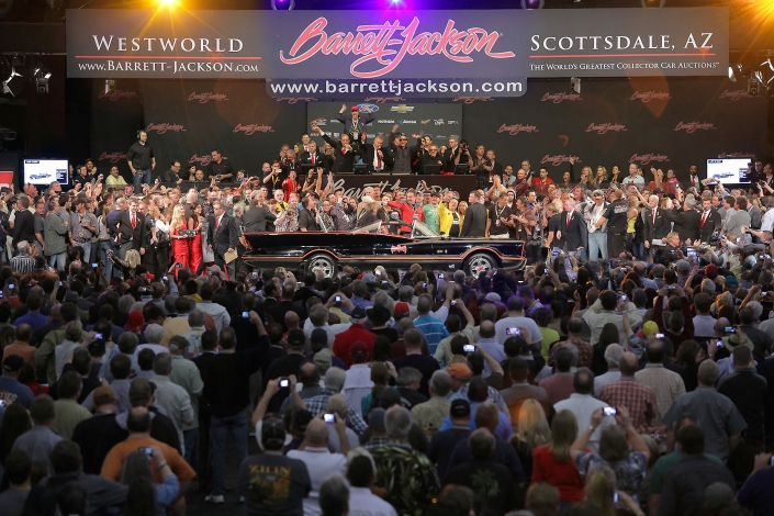 1966 Batmobile being auctioned at Barrett-Jackson in Scottsdale, Arizona.