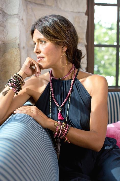 Gold Earring Beaded Bracelets Mala Gaze Phoenix catalog photographer fashion photographer southwest north american jewelry photographer