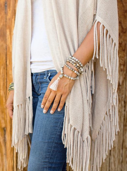 Magnesite Mala Tassel Wrap Phoenix catalog photographer fashion photographer southwest north american jewelry photographer