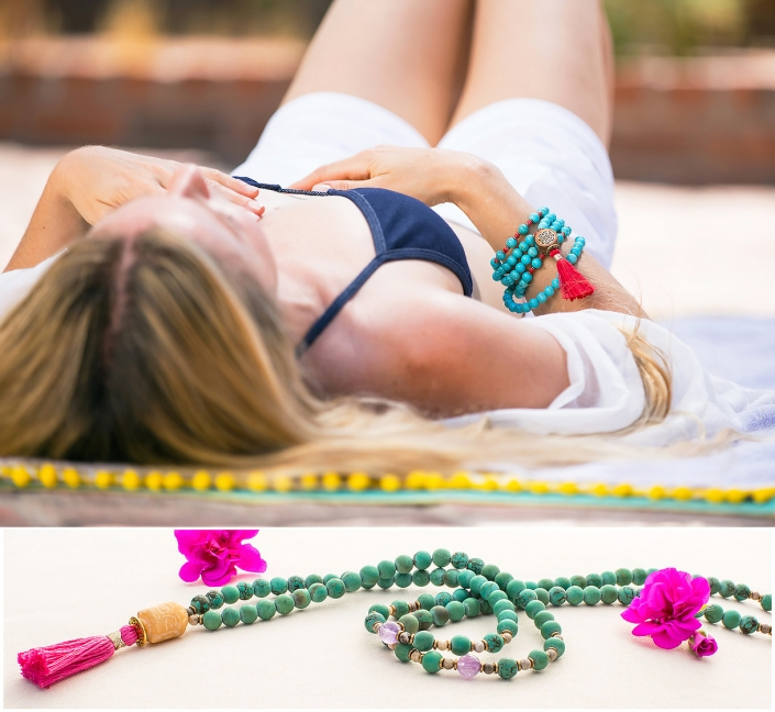 Model Chrysocolla Amazonite Tassel Buddha Phoenix catalog photographer fashion photographer southwest north american jewelry photographer