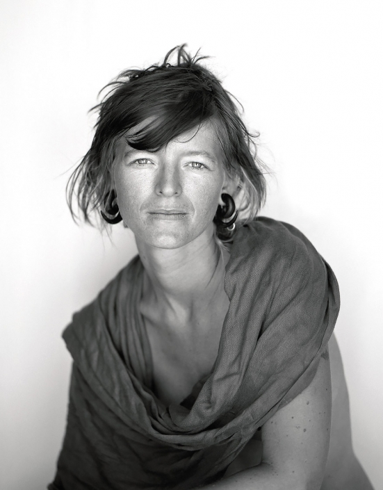 Black and White, Fine Art Portrait of a young woman named Becki at Burning Man by commercial photographer Jason Koster.