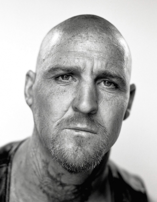 Black and White, Fine Art Portrait of a man named Conley at Viva Las Vegas by commercial photographer Jason Koster.