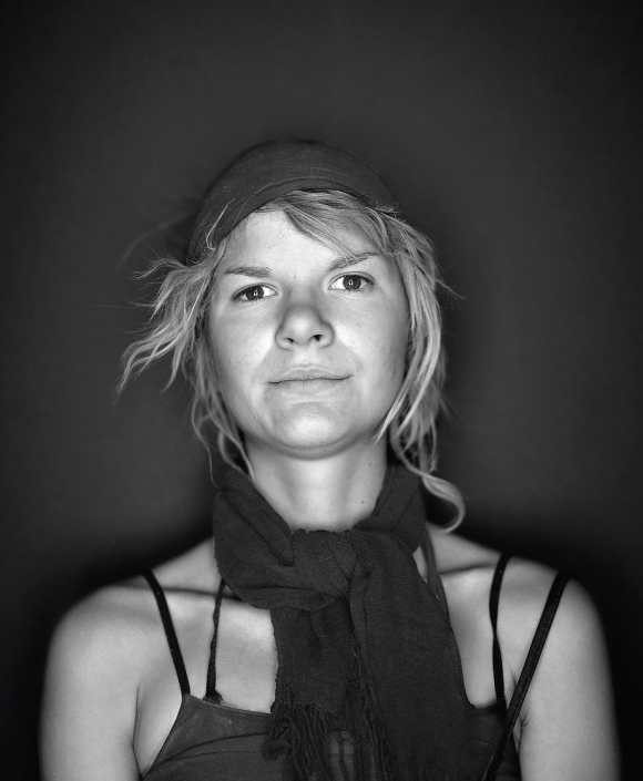 Black and White, Fine Art Portrait of a woman named Jenny at Burning Man by Phoenix commercial photographer Jason Koster.