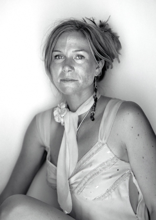 Black and White, Fine Art Portrait of woman named Nicole at Burning Man by commercial photographer Jason Koster.