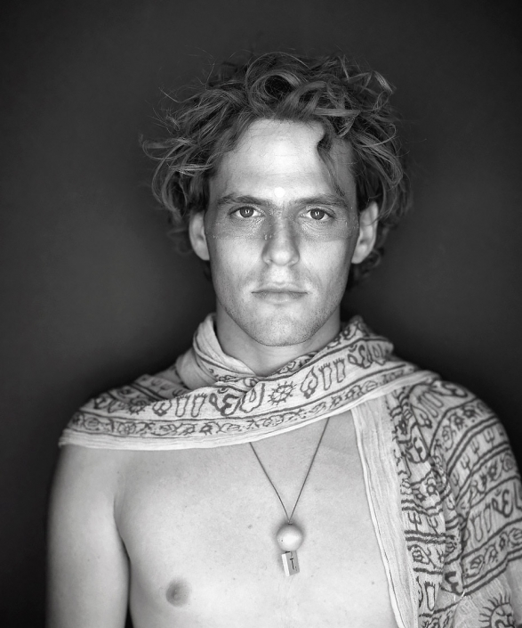 Black and White, Fine Art Portrait of a man named Ori at Burning Man by Phoenix commercial photographer Jason Koster.