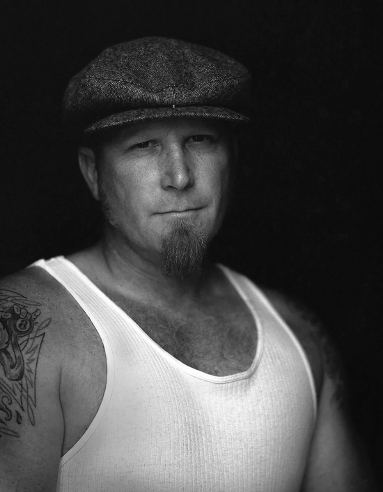 Black and White, Fine Art Portrait of a man named Paul at Viva Las Vegas by commercial photographer Jason Koster.