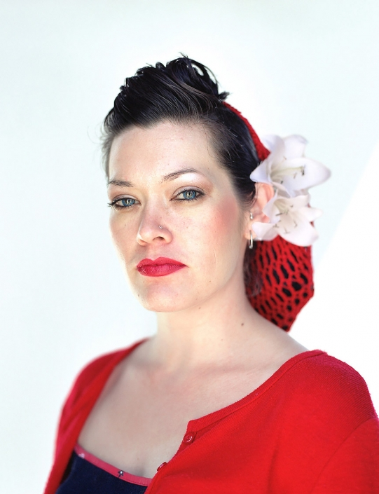 Color, Fine Art Portrait of a woman named Caroline at Viva Las Vegas by commercial photographer Jason Koster.