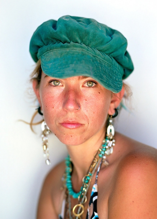 Color, Fine Art Portrait of a woman named Gypsy at Burning Man by commercial photographer Jason Koster.