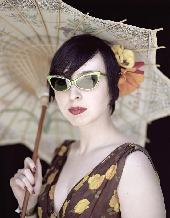 Color, Fine Art Portrait of a woman named Maxine at Viva Las Vegas by commercial photographer Jason Koster.