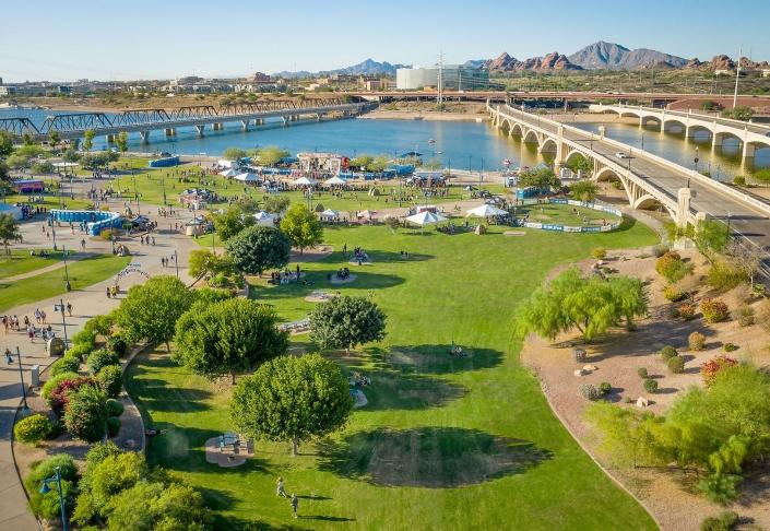 Tour de Fat in Tempe Arizona by Phoenix drone pilot Jason Koster FAA 107 certified
