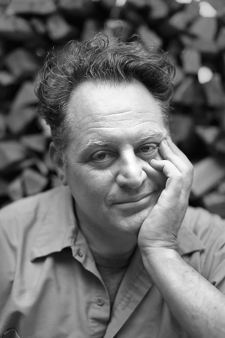 Black and white portrait photography of Chris Bianco for Phoenix Magazine by Phoenix editorial photographer Jason Koster